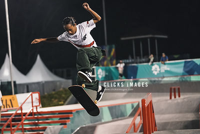 Skateboard prakte section during Asian Games 2018 on August 27, 2018 in Palembang