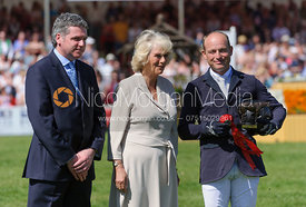 Michael Jung receiving his prize from the Duchess of Cornwall - show jumping phase,  Mitsubishi Motors Badminton Horse Trials...