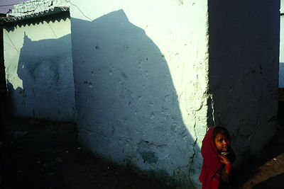India - New Delhi - A girl in the lanes of Shadipur Depot