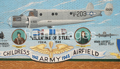 Army mural in Childress, Texas