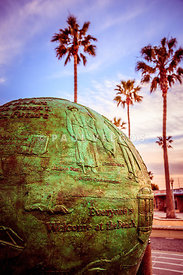 Green Globe at Newport Beach Pier Picture