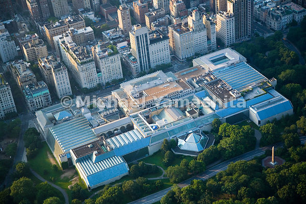 An aerial view of The Metropolitan Museum of Art.  Manhattan, New York City.