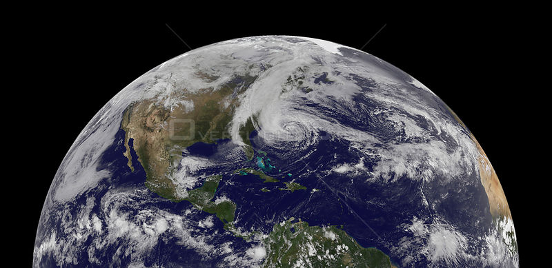 EARTH USA -- 28 Oct 2012 -- Megastorm...A GOES-13 satellite image of Hurricane Sandy