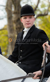 Will Grant at the meet at the Martins Arms - The Belvoir Hunt at Colston Bassett 23-11