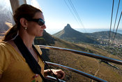Cable car on the Cableway to the top of Table Mountain, Cape Town, South Africa