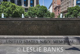 United States Navy Memorial Sign