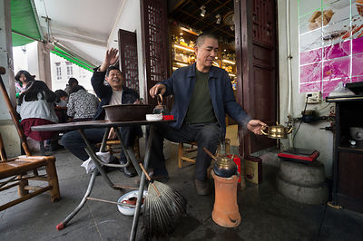 Chaozhou friends drinking tea