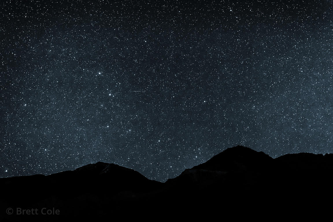 Astrophotograph taken at 12,000 feet in Leh, Ladakh, India. Single exposure with minimal post-processing.