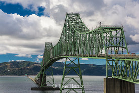 Astoria-Megler Bridge Spanning Columbia River Between Oregon and Washington