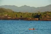 Kayaking in the bay, Manafiafy Beach and Rainforest Lodge,  Sainte Luce Bay, Madagascar