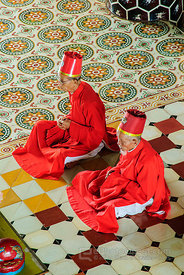 Priests in Cao Dai Temple