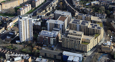 The Quadrant, Stockwell Green, London, SW9 aerial photograph