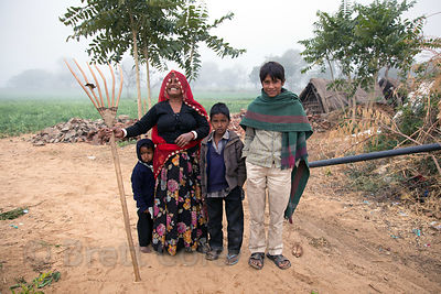 Jolly farming family, Killa village, Rajasthan, India