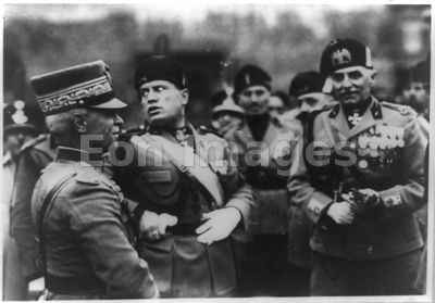 Mussolini presides at Fascisti's first anniversary celebration
