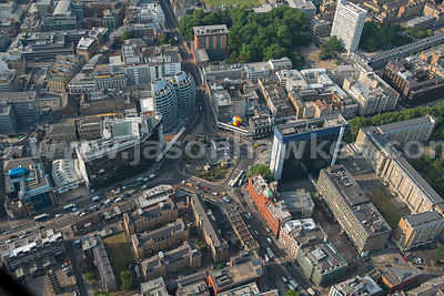 Aerial view of Old Street, London