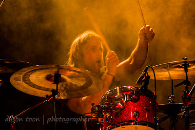 Brad Cummings, drummer, Blackjack Billy at California State Fair, 2014
