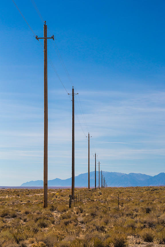 Power Lines along Lonely US 50 in Nevada
