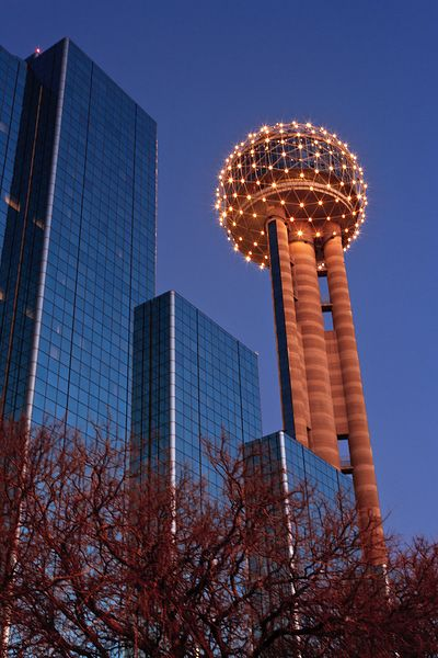 Reunion Tower Evening