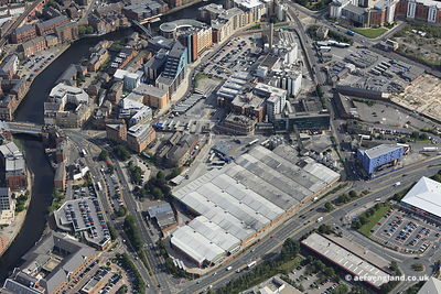 aerial photograph of  the Tetley's Brewery (Joshua Tetley & Son Ltd) in  Leeds Yorkshire England UK taken just before closure