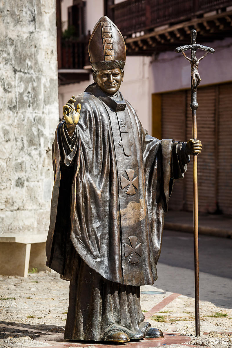 State of Pope John Paul II Cartagena, Colombia, South America