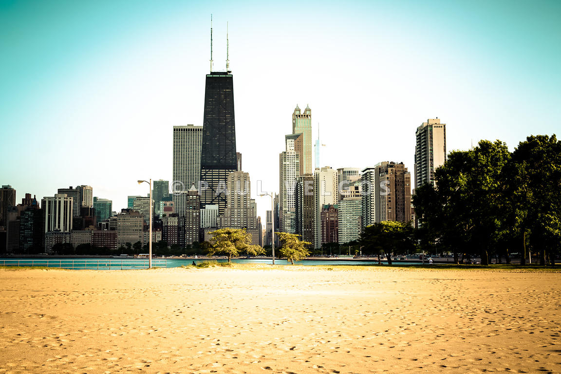 Chicago Skyline at North Avenue Beach Photo