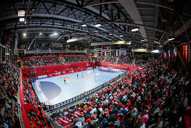 Zatika hall during the EHF EURO Croatia 2018 - Preliminary round -  Group B - Belarus vs Austria in Zatika Sports Centre, Porec, Croatia, 12.1.2018, Mandatory Credit © HRS / Anze Malovrh