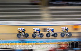 Team Pursuit Qualifications, Track World Cup II Milton, October 25, 2018