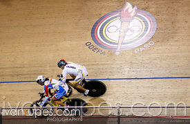 Women's Sprint 1/8 Finals. Track Day 3, Toronto 2015 Pan Am Games, Milton Pan Am/Parapan Am Velodrome, Milton, On; July 18, 2015