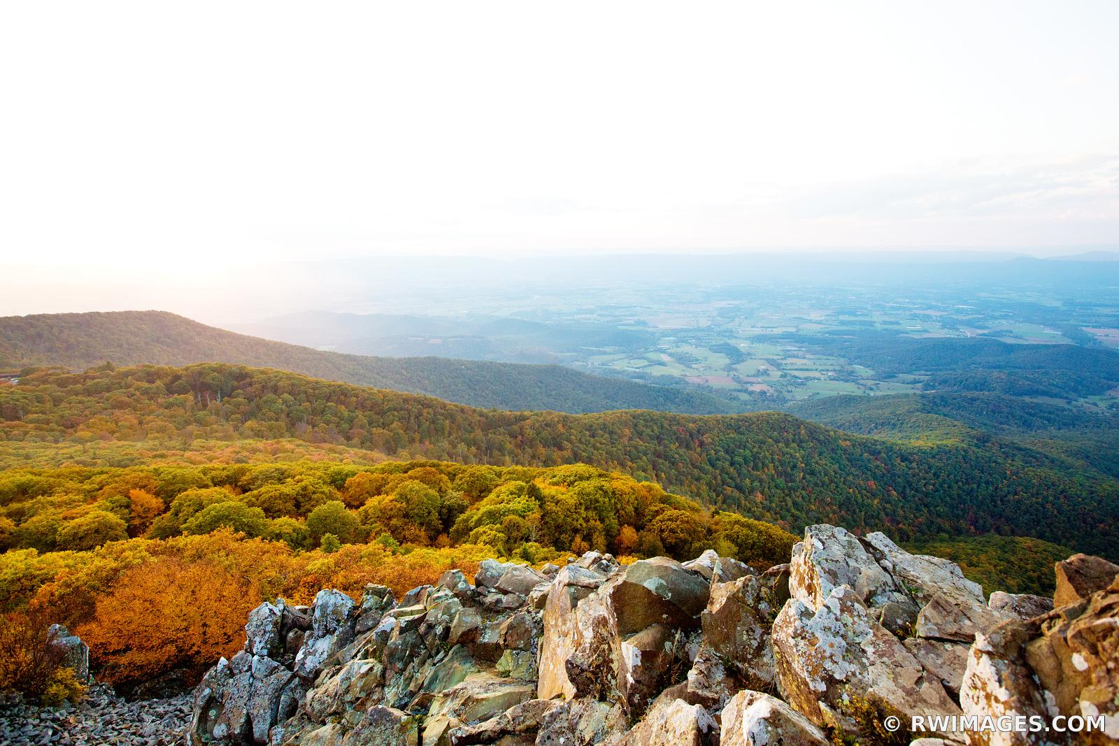 STONY MAN MOUNTAIN SUNSET SHENANDOAH NATIONAL PARK VIRGINIA COLOR