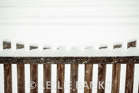 Wooden Fence in Snow