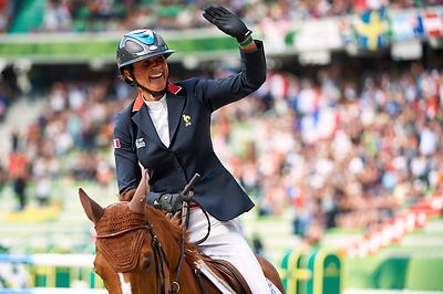 LEPREVOST, Penelope, (FRA), Flora de Mariposa during Second round Team competition at Alltech World Equestrian Games at Stade...