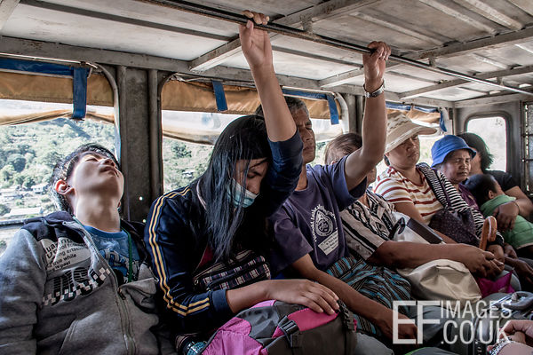 Sleeping People On Philippine Public Transport
