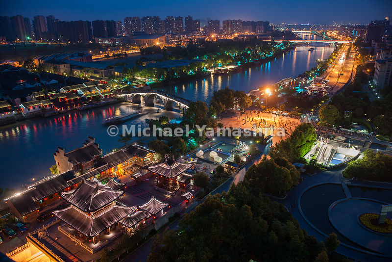 "Hangzhou is the southern terminus of the Grand Canal and was known in Marco Polo's day as the ""city of 12,000 bridges"".  Hangzhou, China"