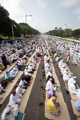 More than 20,000 Muslims pray during Eid al-Adha Red Road, Madian, Kolkata, India. I have the only photos taken by a foreigne...