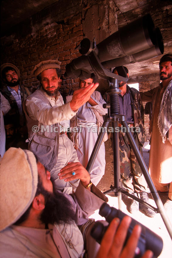 Afghani officers surrounding Massaud, a fine strategist