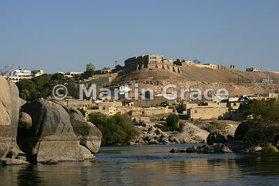 Buildings on the outskirts of Aswan, Egypt