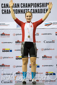 U17 Women 500m Time Trial Podium. Canadian Track Championships (U17/Junior), April 3, 2016