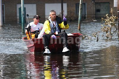 Search and rescue teams in New Orleans after Hurricane Katrina