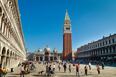Italy, Venice, People walking at St Mark's Square