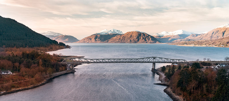 Ballacullish Bridge West Higlands Scotland Loch Leven and Loch Linnhe