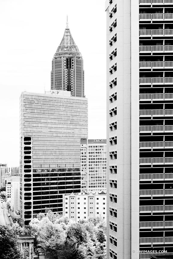 DOWNTOWN ATLANTA BLACK AND WHITE VERTICAL