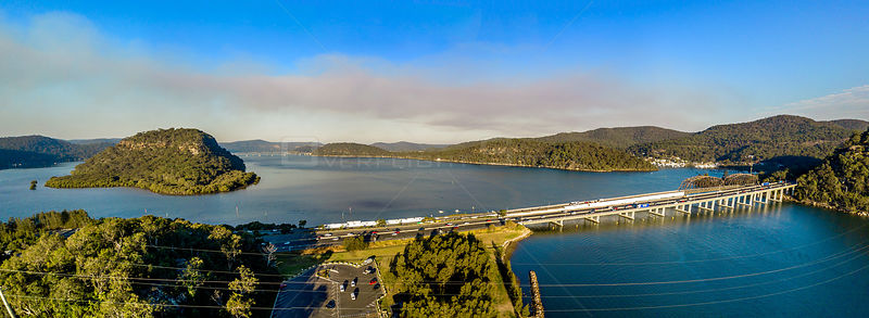 Bridge over Hawkesbury River, Mooney Mooney, gateway to Central Coast Australia