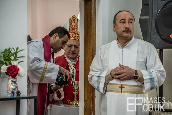 Mar Louis Raphael Sako, Patriarch Of The Chaldean Catholic Church Directs Preparation Of Holy Communion Wine On Maundy Thursd...