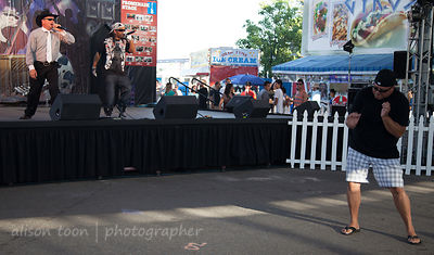SACRAMENTO, 14 JULY 2013:: Cowboy and a THUG, performing at California State Fair, Sacramento CA, 14th July 2013