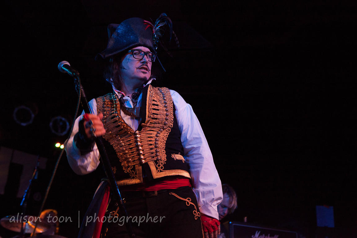 SACRAMENTO, 11 September 2013: Adam Ant performing at the Ace of Spades, Sacramento