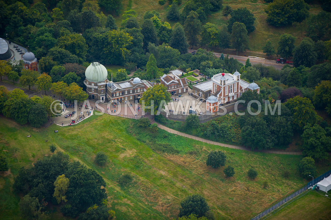 London. Aerial view of the Royal Observatory