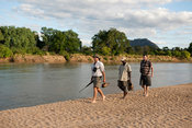 Game walk along the Lugenda river, Niassa Game Reserve, Mozambique