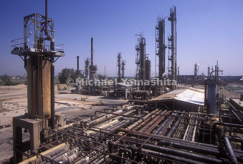 Daura refinery on the outskirts of Baghdad. Built in 1954 by the British and the US oil companies, where 4000 workers produce...