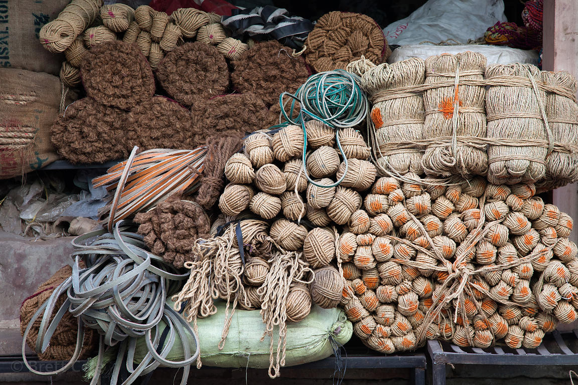 Rope and twine for sale in Jodhpur, Rajasthan, India