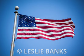 American Flag on a Flagpole